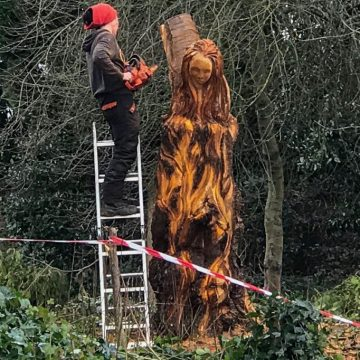 Wood Sculpture - 'Guardians of the Woods' by Heather Crompton